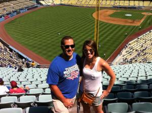 Kayla and D Dodgers Game