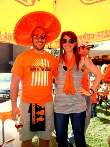 Kayla and D tailgate 2011